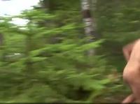 Хорошенько чпокнул курву в лесу